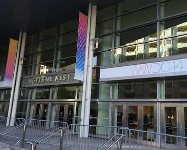 WWDC 2014: Dekoration, iOS 8 Banner und OS X Yosemite