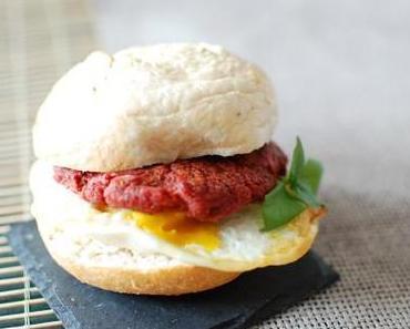 Rote Rüben Linsen Burger / Red beet lentil burger