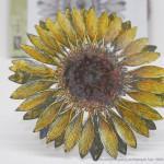 Geburtstagskarte mit dem Stempel Sonnenblume