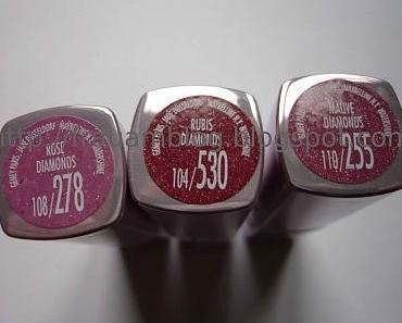 [Swatches] Maybelline Watershine Lippenstifte