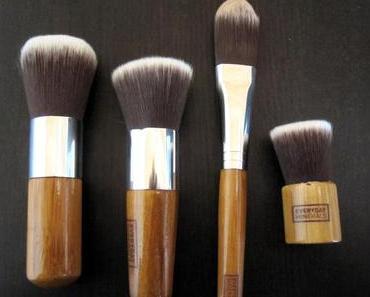 Review: Everyday Minerals Brushes – Flat Top Brush + Long Handled Kabuki + Foundation Brush + Baby Bamboo Flat Top Brush