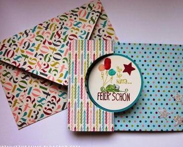 Geburtstagskarte mit passendem Umschlag: Geburtstagsbasics