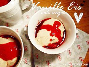Vanille-Eis roh vegan