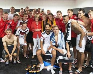 WM-Spiel der DFB-Auswahl wurde zur Wahlveranstaltung der Merkel