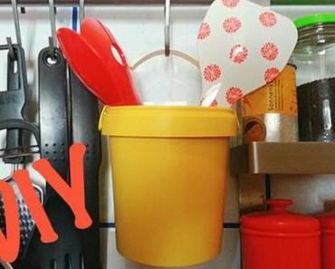 DIY Upcycling – Utensilo für die Küche aus Joghurtbecher!