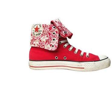 #Converse Schuhe All Star Chucks XHI 1U325 Flower- Blumenprint Orchid ROT