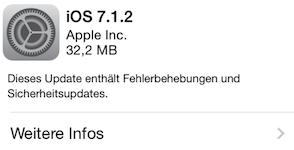 Updatetime: Apple veröffentlicht iOS 7.1.2 und Mac OS X 10.9.4