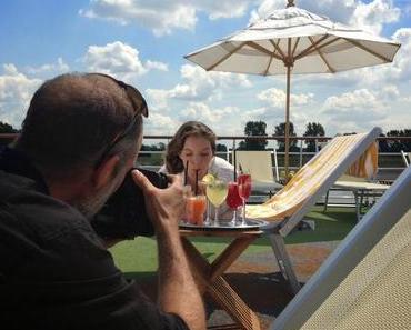 Hinter den Kulissen: Markenbotschafterin Yvonne Catterfeld für Foto-Shooting an Bord der A-ROSA FLORA