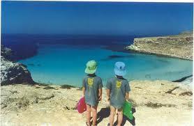 Lampedusa- weisse Strände- azzurblaues Wasser