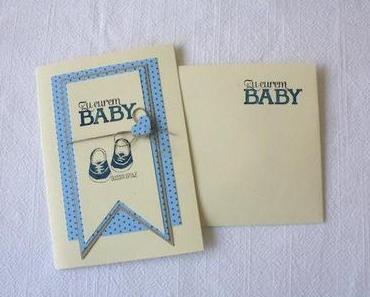 Karte zur Geburt eines Jungen