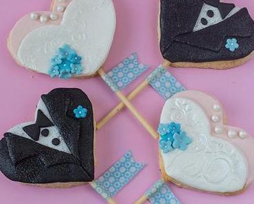 #Tutorial – Braut- und Bräutigam-Kekse für eine Hochzeit