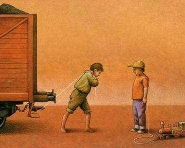 Gesellschaftskritische Zeichnungen von Pawel Kuczynski