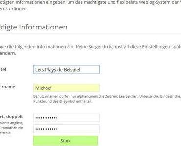 Mit WordPress eine eigene Let's Player Homepage erstellen