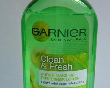 Review | Garnier Clean & Fresh Augen Make-Up Entferner Lotion