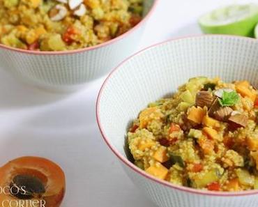 Couscous Salat mit Gemüse und indischer Würze