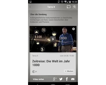 ZDF Mediathek App erhält Chromecast Funktion