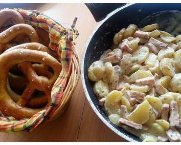 Kartoffel-Leberkäse-Pfanne