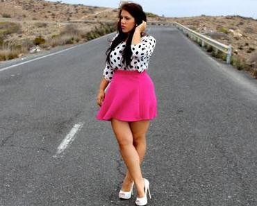 Outfit: Polka Dot's and Grey Sky