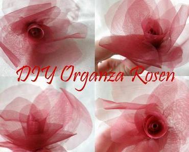 DIY Organza Rosen