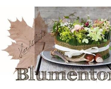 Herbstliche Blumentorte