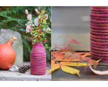 [diy] Vase für den Herbst selber machen: Wollvase