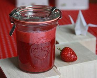 Erdbeer-Pfeffer-Sahne Marmelade vegan