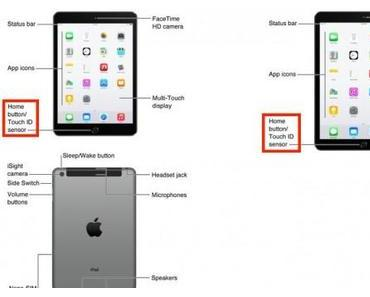 iOS 8.1 Handbuch enthüllt iPad Air 2 und iPad mini Retina 3
