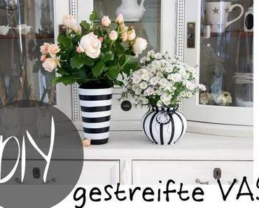 DIY gestreifte Vase