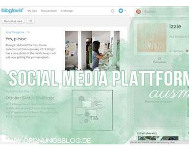 [Digitale Ordnung] Social Media Plattformen (Bloglovin, Pinterest, Twitter, Facebook & Co.)