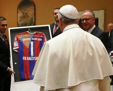 Riesenehre – F.C. Bayern München bei Papst Franziskus!