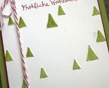 Colorierte Tannenbäume - Weihnachtskarten-Workshop