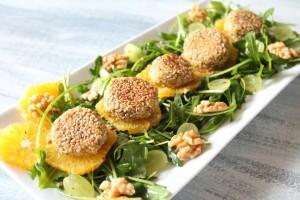 Falafel-Salat mit Rucola & Orange