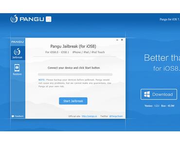 iOS 8.x Jailbreak Tool Pangu für Mac veröffentlicht