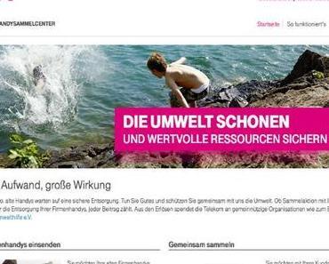 Online-Portal der Deutschen Telekom zur Sammlung von alten Handys gestartet