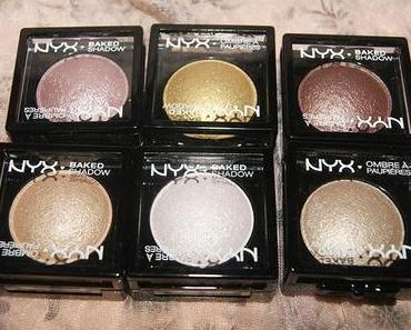 NYX Baked Eyeshadow Swatches