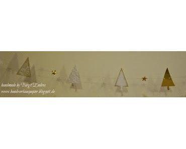Weiße Weihnachtsdeko