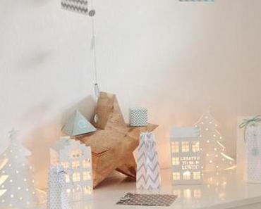 Adventskalender 2014 , Lichthäuser und Lichttannen