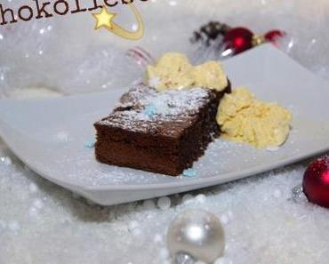 Warmer Mandel – Schokokuchen mit Vanilleeis 🍫