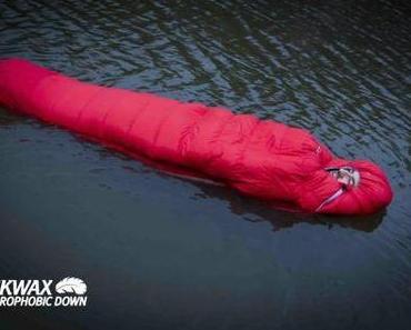 Schwimmender Schlafsack