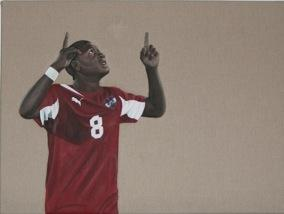 Emotionen beim Fußball künstlerisch dargestellt