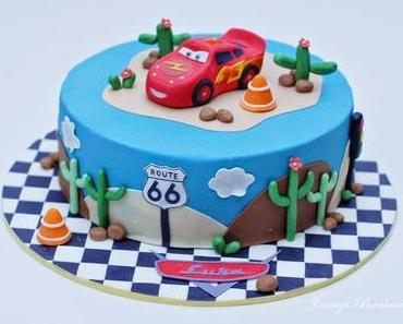 Cars Torte mit Lightning McQueen