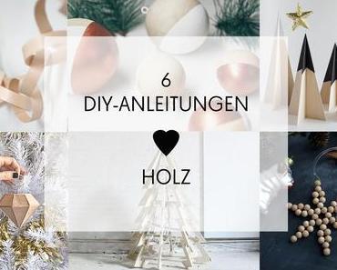DIY-Inspirationen: Puristische Weihnachten mit Holzdeko