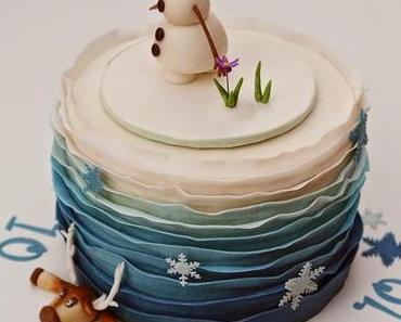 Und wieder eine Eiskönigin Torte zum Geburtstag