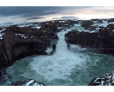 Drohnen mit Kameras in Island