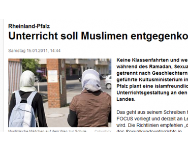Unfassbar: Schulen in Rheinland-Pfalz sollen besonders sensibel gegenüber Muslimen werden