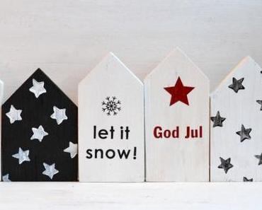 DIY // dreierlei weihnachtliche deko-holzhäuser