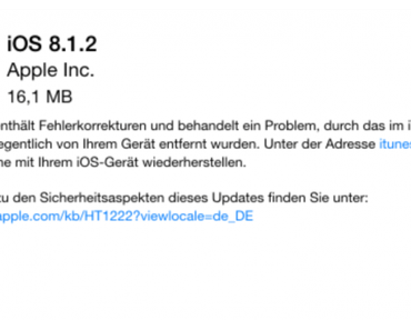 Download & Jailbreak mit TaiG: iOS 8.1.2 für verlorene Klingeltöne