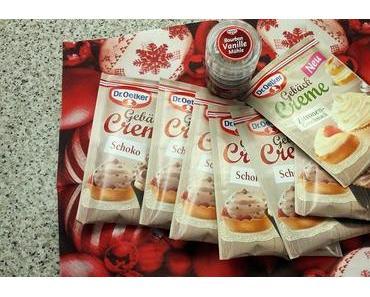 Kirsch-Kakao Muffins mit Gebäckcreme von Dr. Oetker