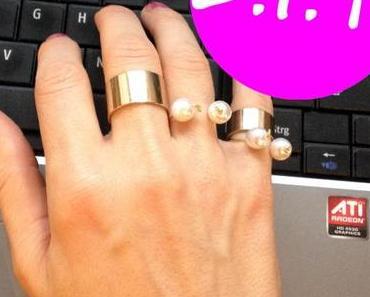 """DIY: """"Spangen""""-Ring mit Perlen (a.k.a. hübsches Weihnachtsgeschenk für die beste Freundin)"""