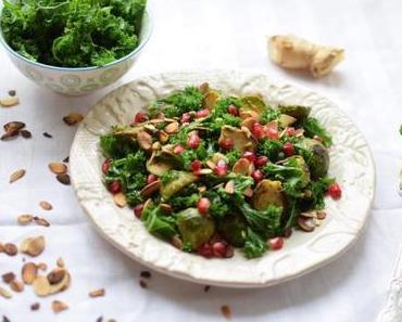 Wintersalat mit Rosenkohl und Grünkohl